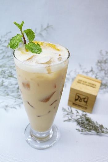 hình ảnh trà sữa đào