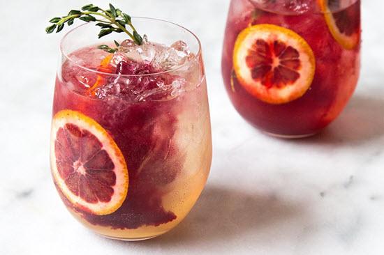 hình blood orange elderflower gin cocktail