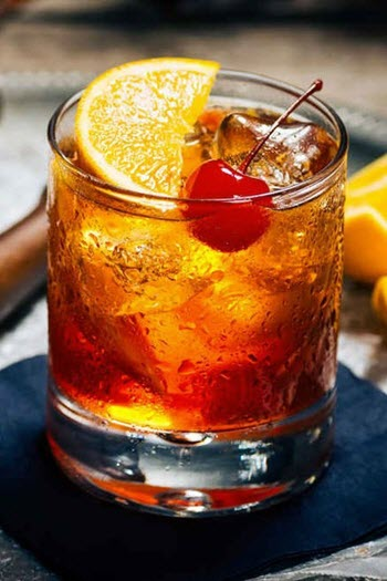 hình cocktail old fashioned