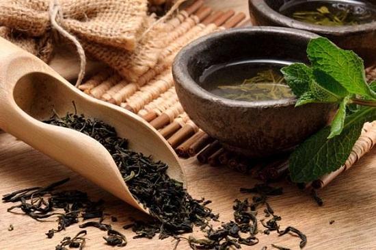 hình nguyên liệu trà