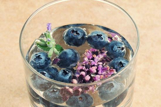 hình nước detox hoa oải hương