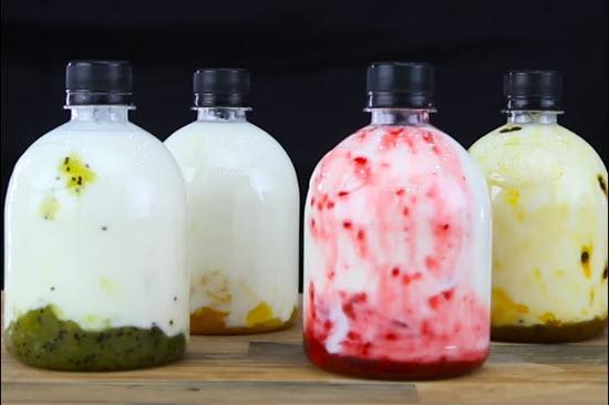 hình sữa chua lỏng uống liền
