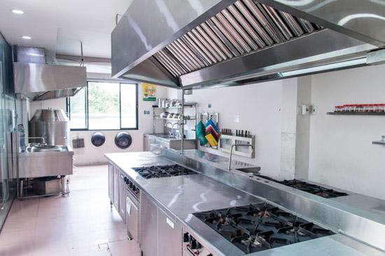 phòng học bếp nóng