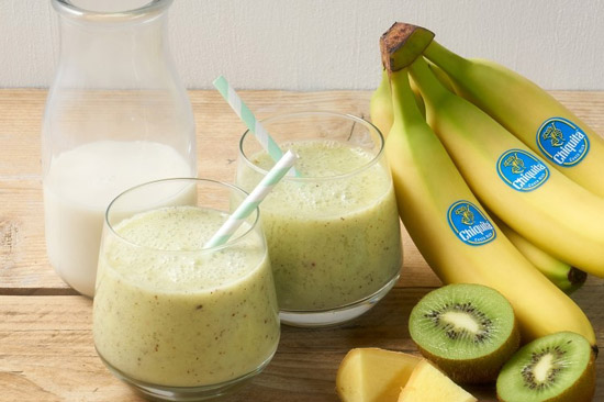 Kết quả hình ảnh cho sinh tố kiwi chuối
