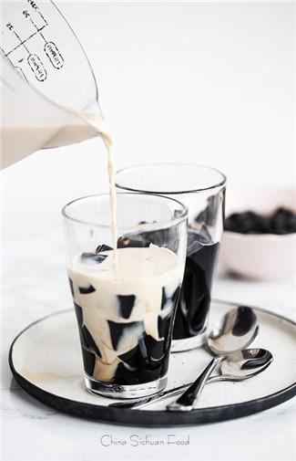 sữa tươi sương sáo đường đen