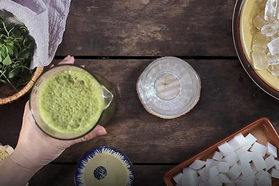 đậu xanh rau má thạch rau câu dừa